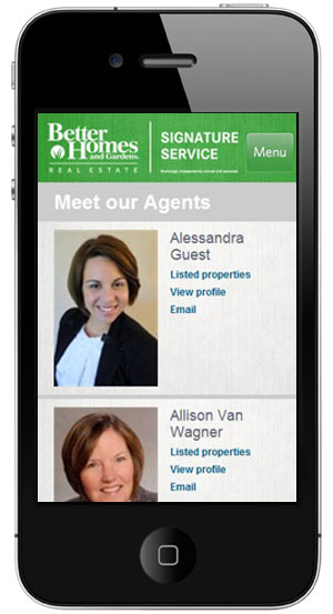 Better Homes mobile site