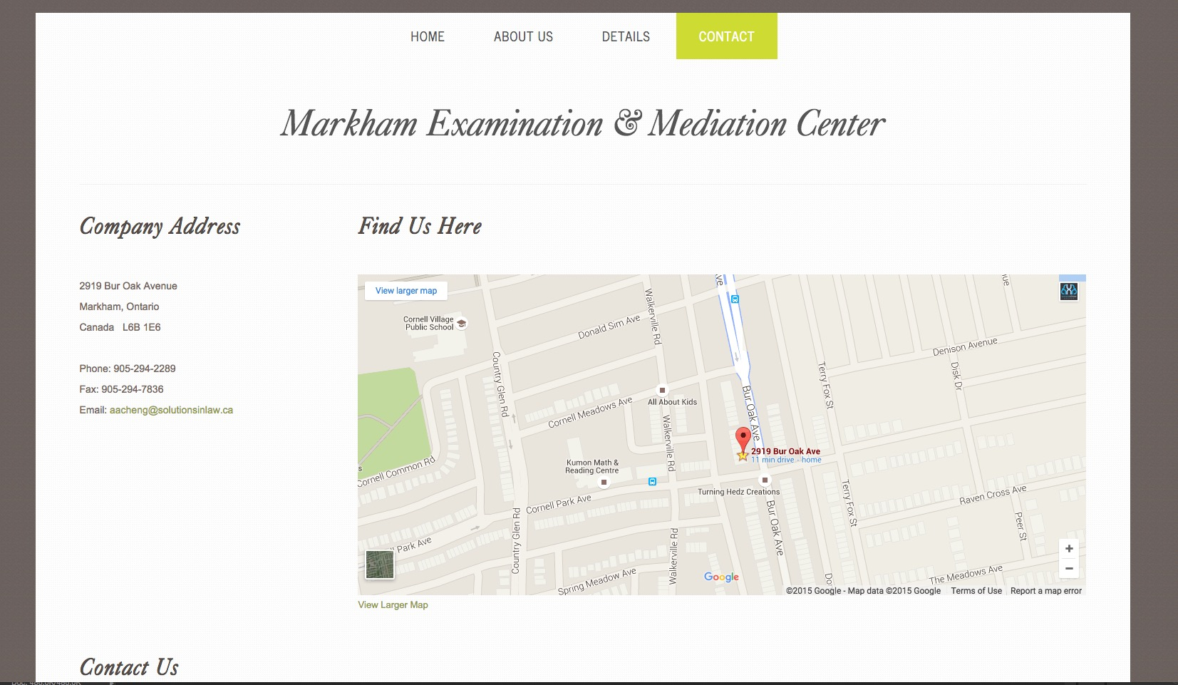 Solution in Law Microsite