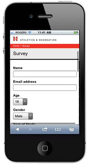 Special Olympics Signup page